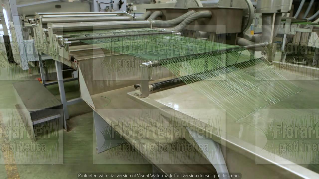 Produzione filato erba sintetica